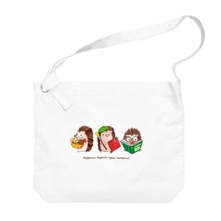 fukunofukuの秋のハリネズミトリオ Big shoulder bags