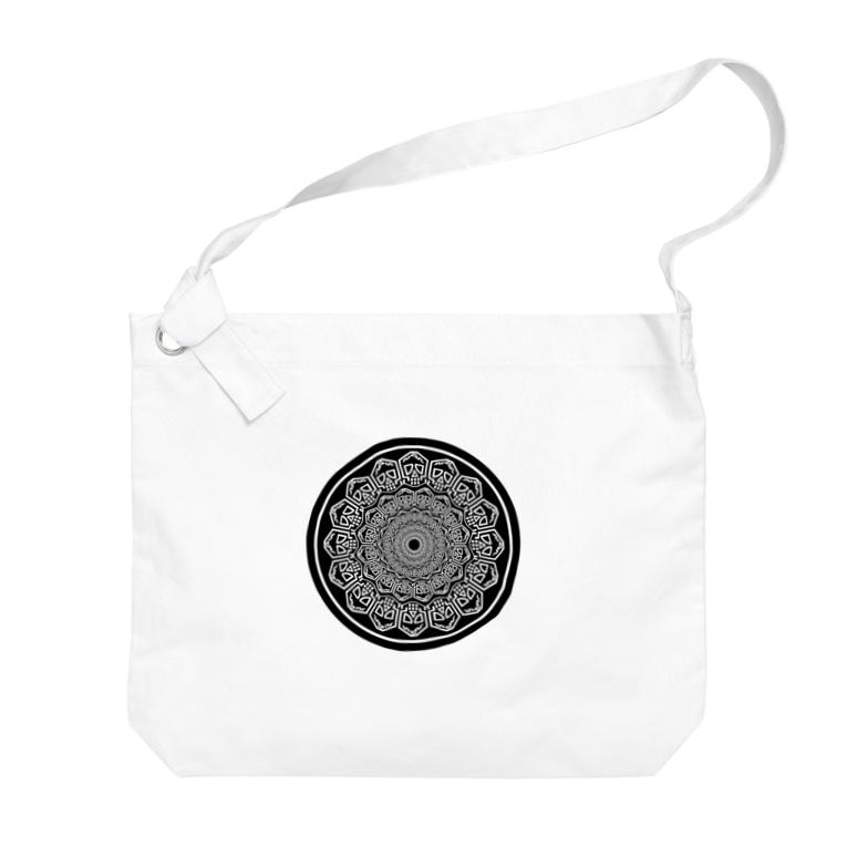 シャレコーベミュージアムのロゴマンダラ Big Shoulder Bag
