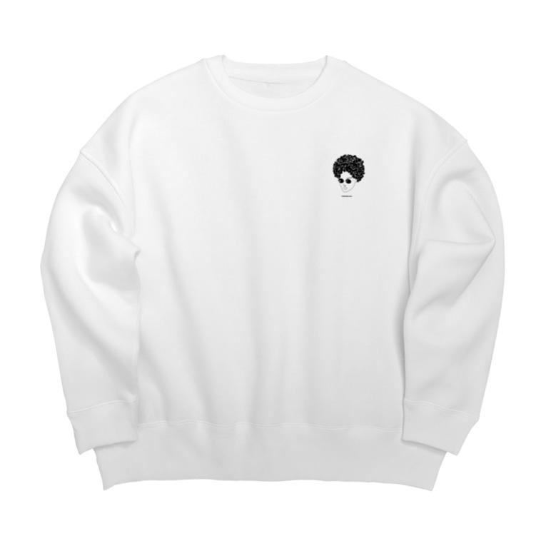 ChRiSUMAのChRiSUMA AFRO mini ChRiSUMAN Big Crew Neck Sweatshirt