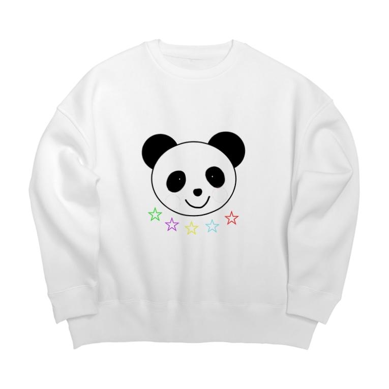 YuuのYuuオリジナルイラスト25 パンダと5色の星 Big silhouette sweats