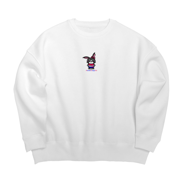 P.U Shopの【P.U】 PandaUsagiちゃん Big silhouette sweats