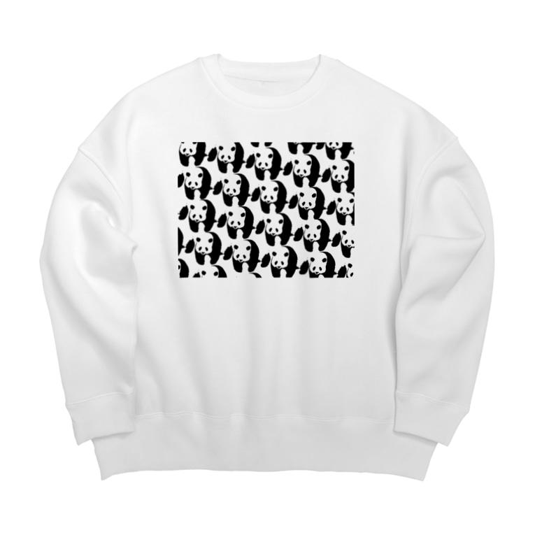 PANDA panda LIFE***のぞろぞろパンダ Big silhouette sweats