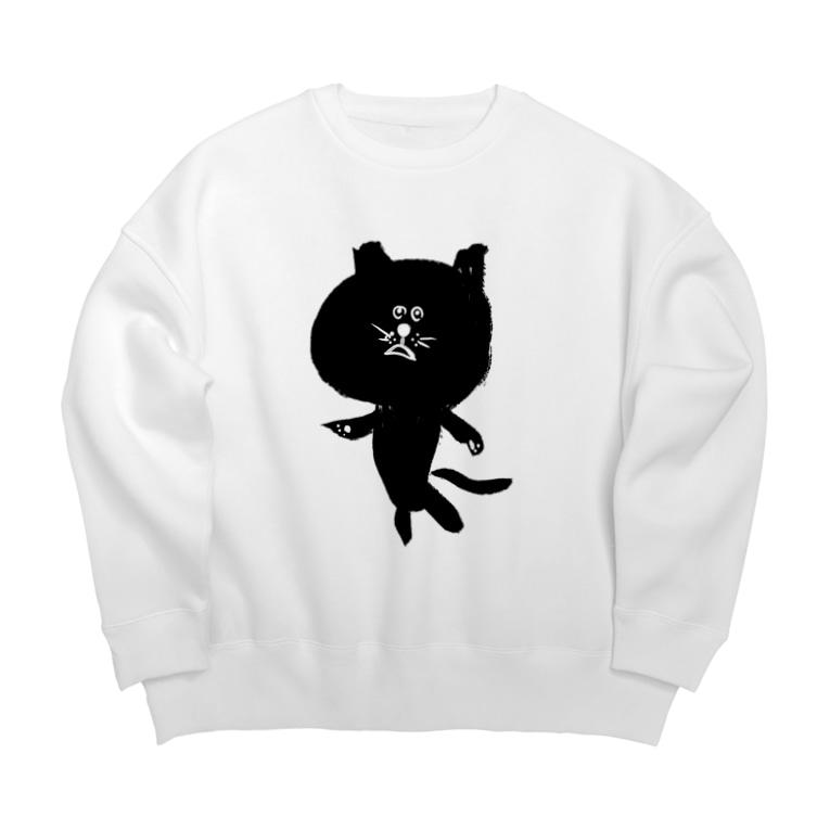 newmeの筆猫-fudeneko- Big silhouette sweats