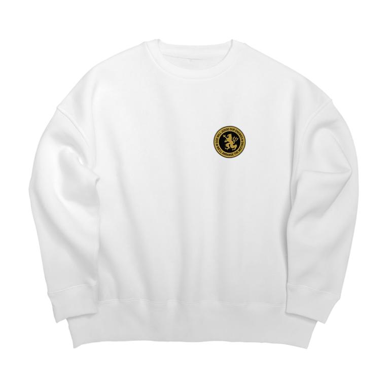 puikkoのDEVGRU ライオン丸型2(ワンポイント) Big Crew Neck Sweatshirt