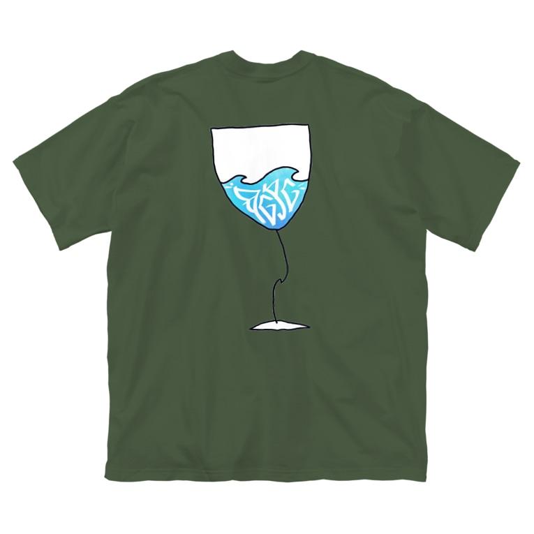 DGPGのWAVE grass Big silhouette T-shirts