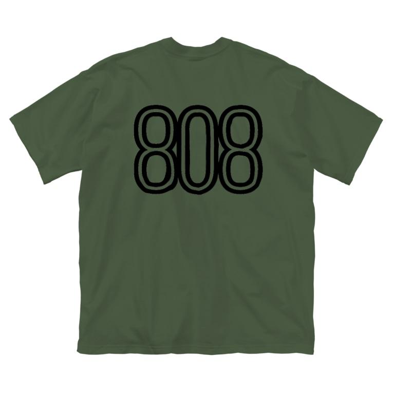 musicshop BOBの808 - BOB ※BLACK LOGO Big silhouette T-shirts