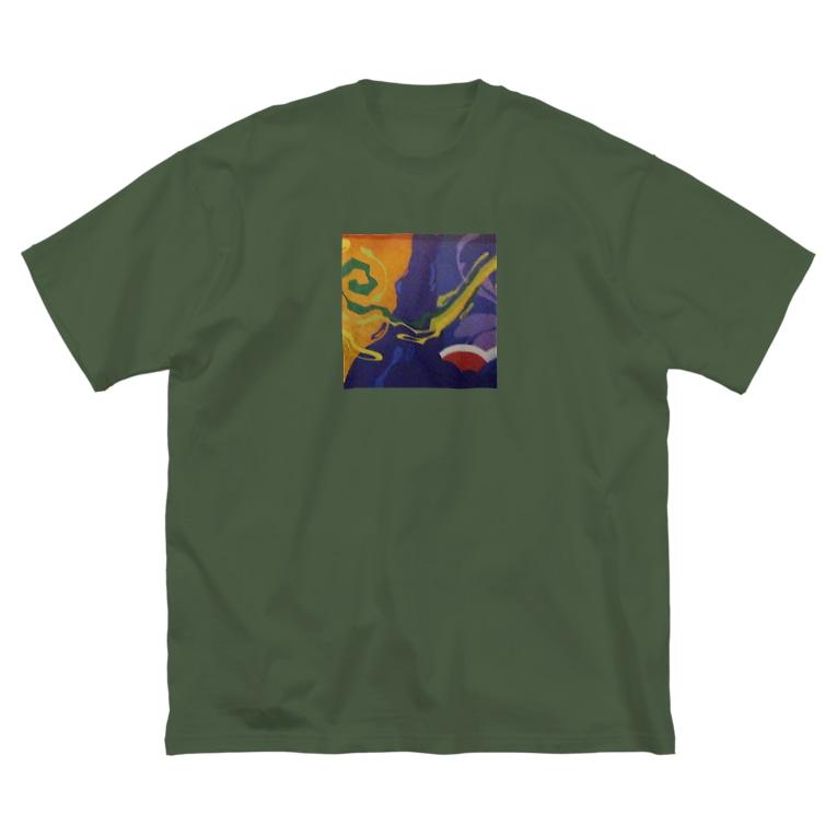 7AnGのHepburnwall Big silhouette T-shirts