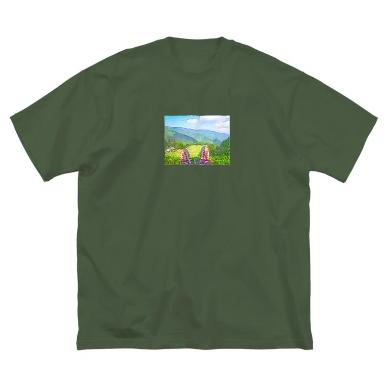 otakeの写真店の登山 Big silhouette T-shirts