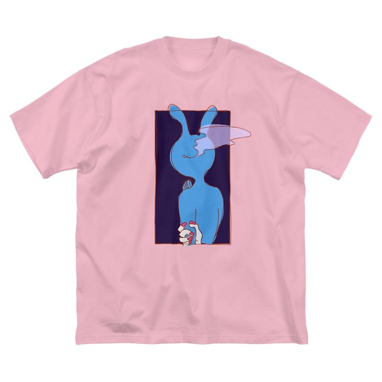 りしのみせ。のヘビースモーカーUSAOと女のグッズ Big silhouette T-shirts