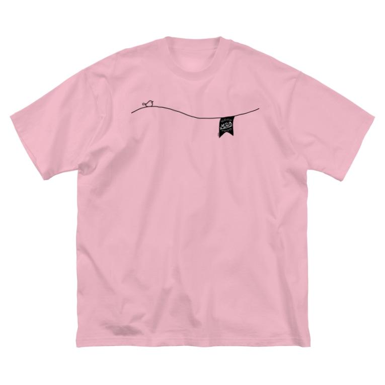 ペアTシャツ屋のシバヤさんのペアデザイン(Mrs)ガーランド Big Silhouette T-Shirt