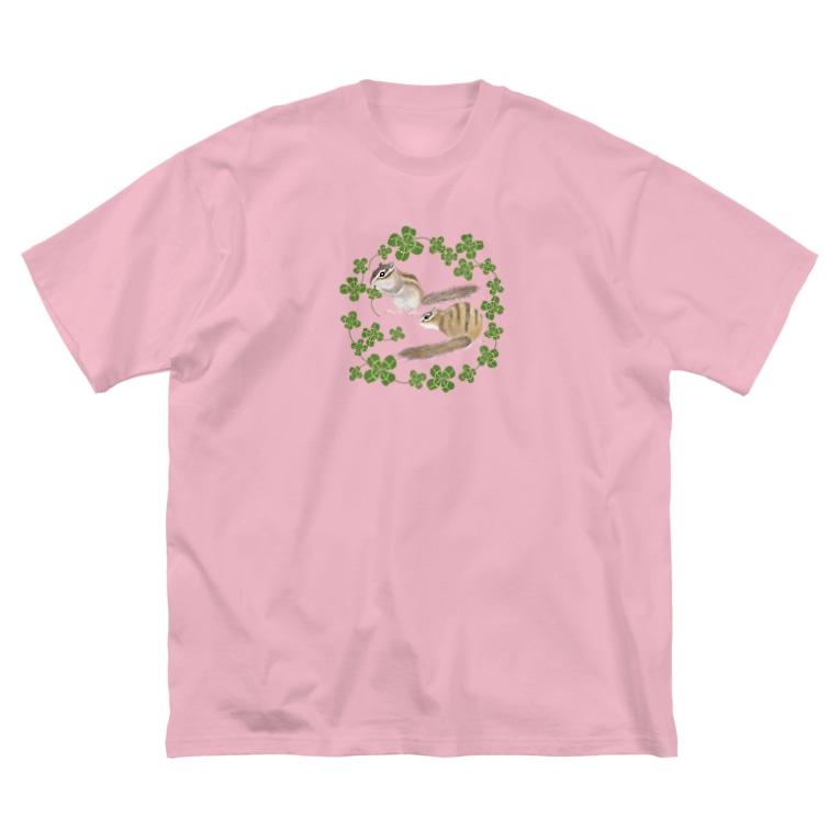 やまさきゆみこのシマリスとクローバー Big T-shirts