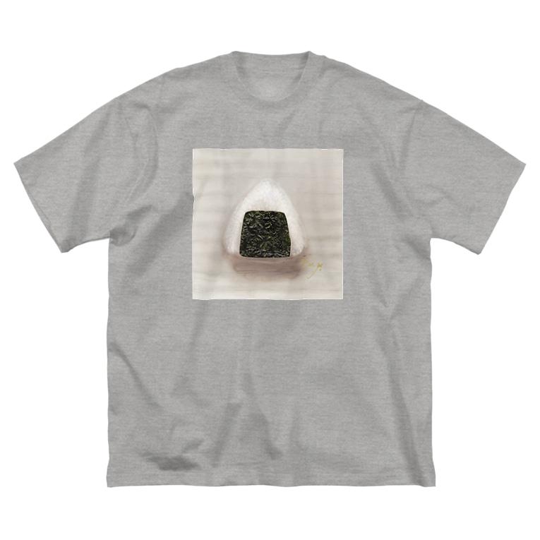 Fumiko💫のおにぎり Big silhouette T-shirts