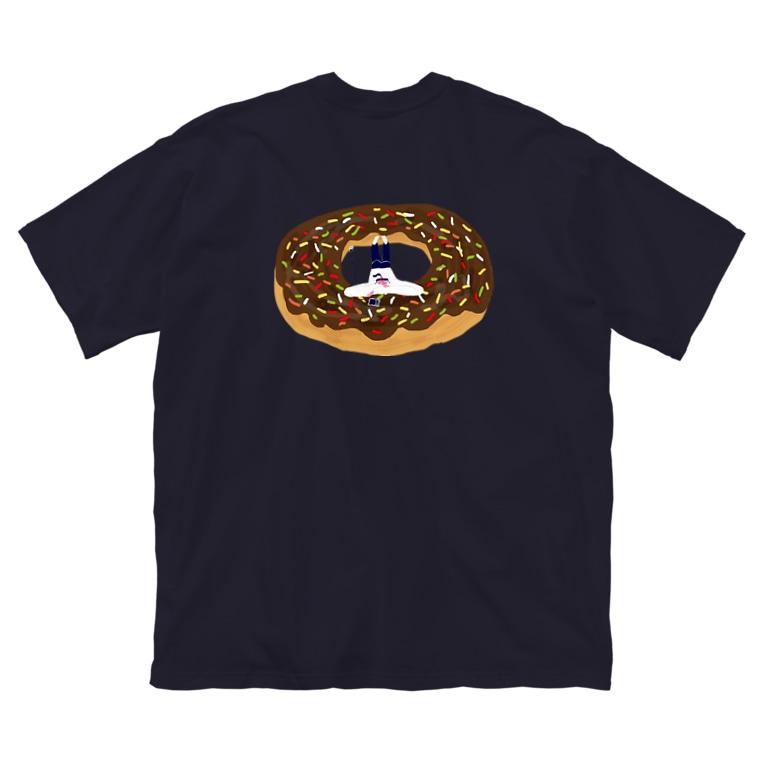 aki_ishibashiのドーナツガールのときめき Big silhouette T-shirts