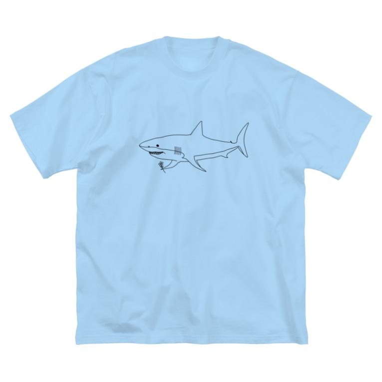 ずまの優しいサメ Big silhouette T-shirts