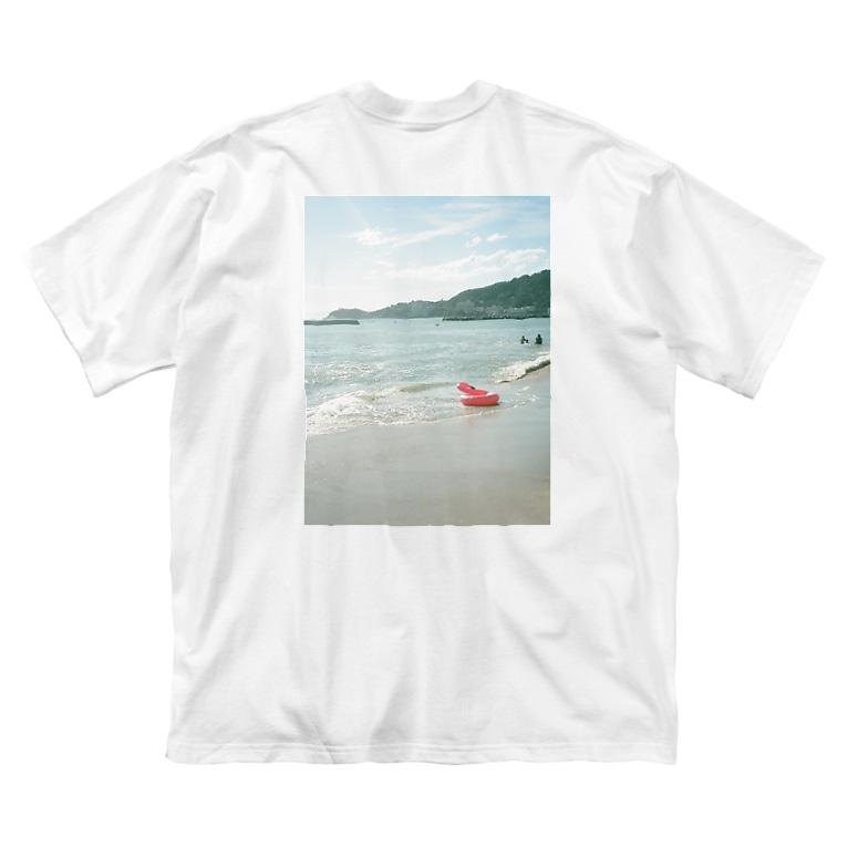ぱんちゃりんちゃの置き去りの夏 バックプリント Big silhouette T-shirts