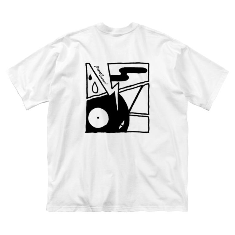 nove1unarのレトロ大作戦 Big silhouette T-shirts