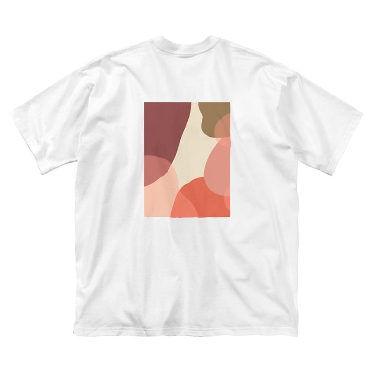 poqpoqのぬくい Big silhouette T-shirts