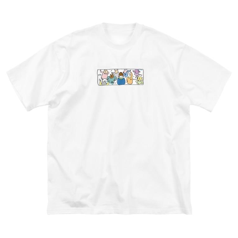 suzuharu_no_goodsの音モレズンチャカ Big silhouette T-shirts