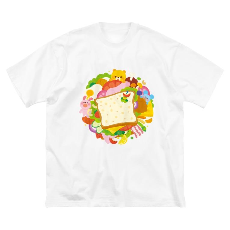 Illustrator イシグロフミカのサンドイッチ Big T-shirts