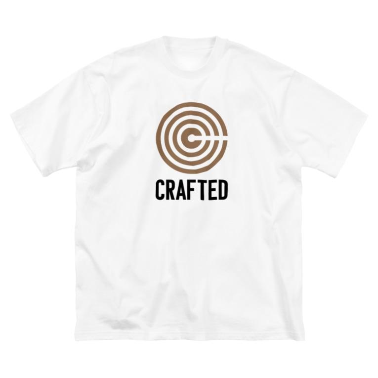 なかむらりか商店のCRAFTED 黒ロゴ Big silhouette T-shirts