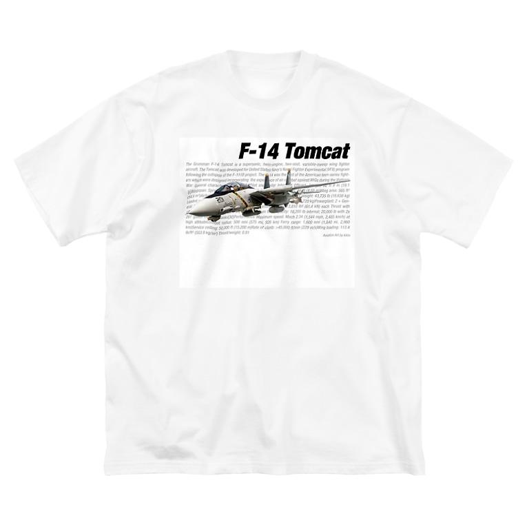 kazu Aviation ArtのF-14 トムキャット Big silhouette T-shirts
