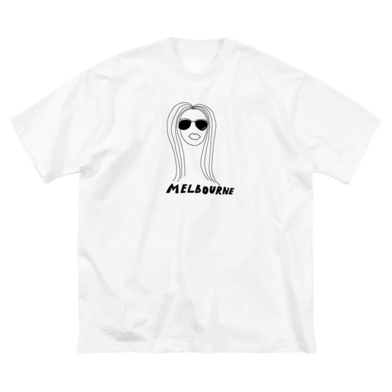 yoshiのゆるいメルボルン Big silhouette T-shirts