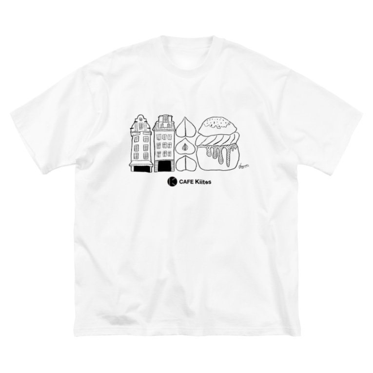 CAFEKiitosの【CAFE Kiitos × Mika Itoh】シリーズ vol.3 Big silhouette T-shirts