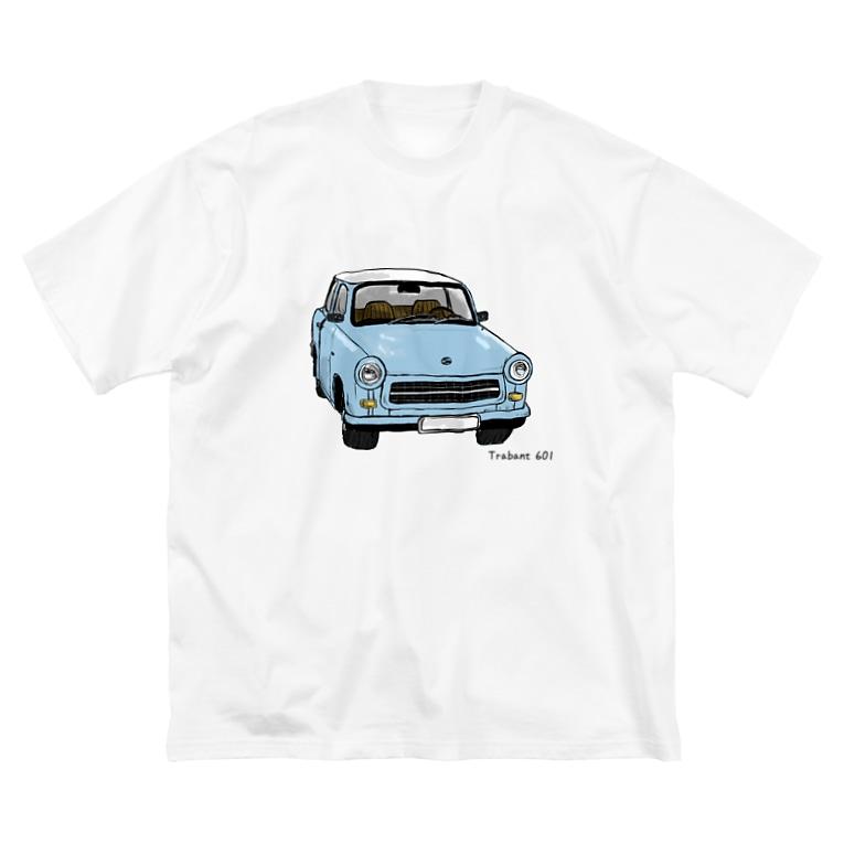 ナノのトラバント601  Big silhouette T-shirts