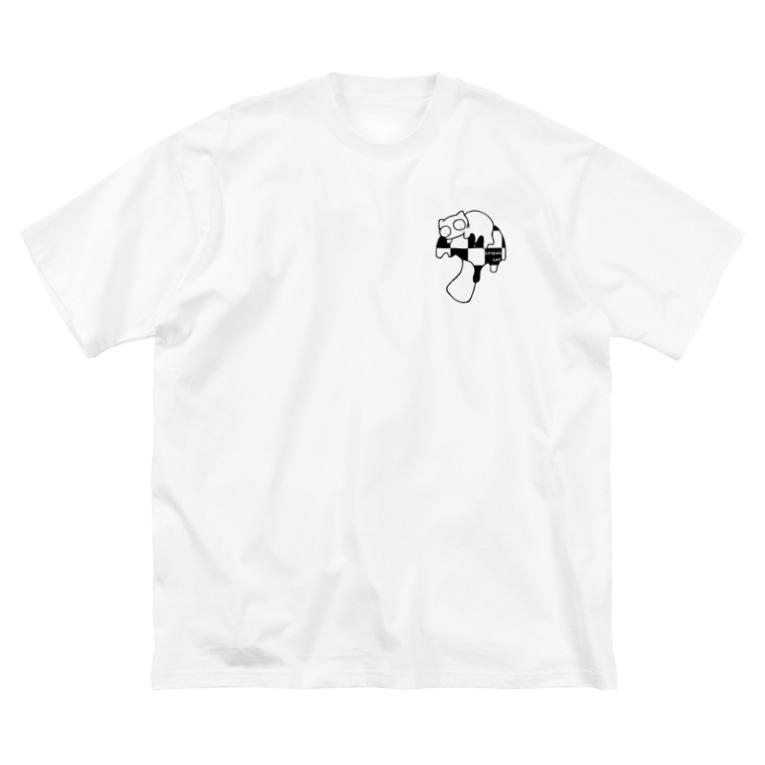 B6_6bitのmushroom Big silhouette T-shirts