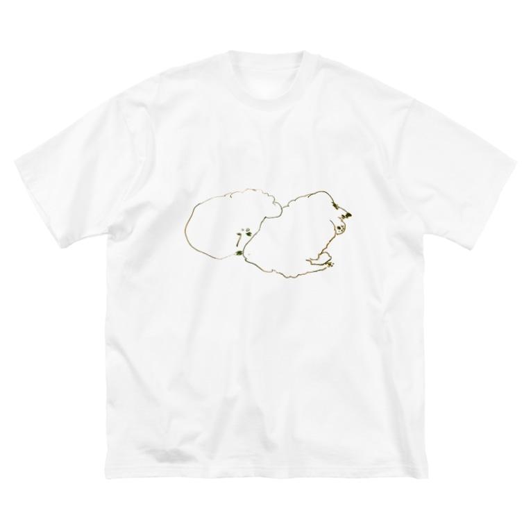 sayuのMy dog dog Big silhouette T-shirts
