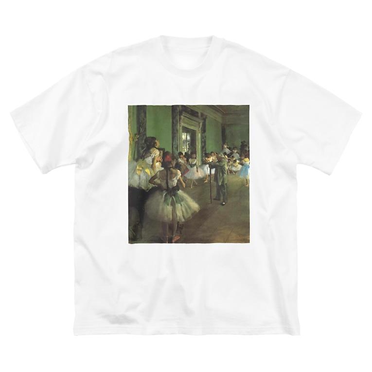 public domainのダンス教室 / エドガー・ドガ Big silhouette T-shirts