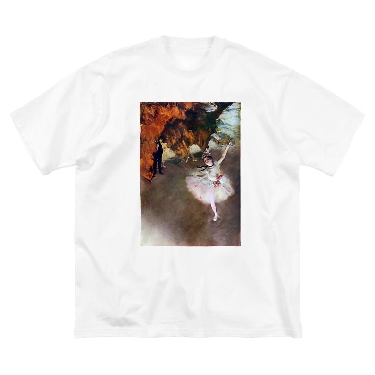 public domainの舞台の踊り子 / エドガー・ドガ Big silhouette T-shirts