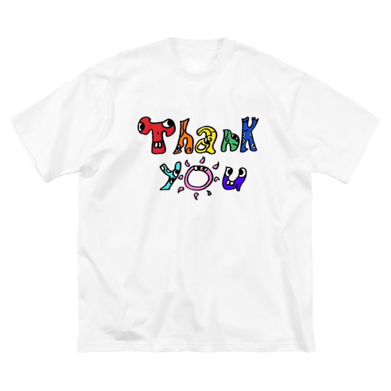 MY ART IS FREEDOMのthank you Big silhouette T-shirts