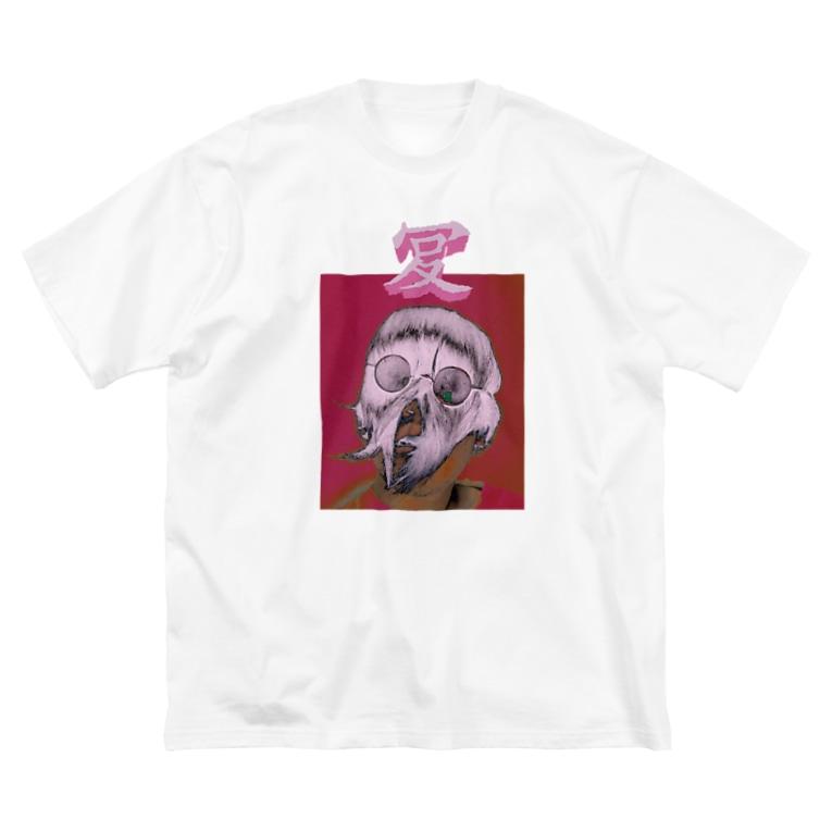 NATUのワロタ Big silhouette T-shirts
