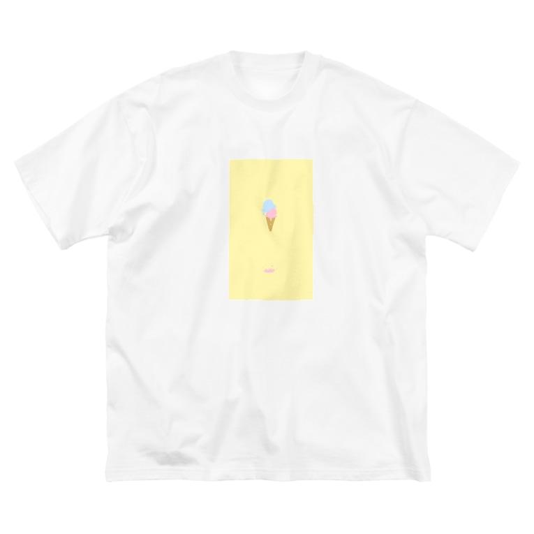 はるなつの溶けたアイスクリーム Big silhouette T-shirts