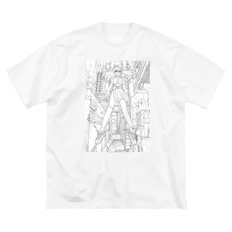 tarou2のGIRL_01 Big silhouette T-shirts