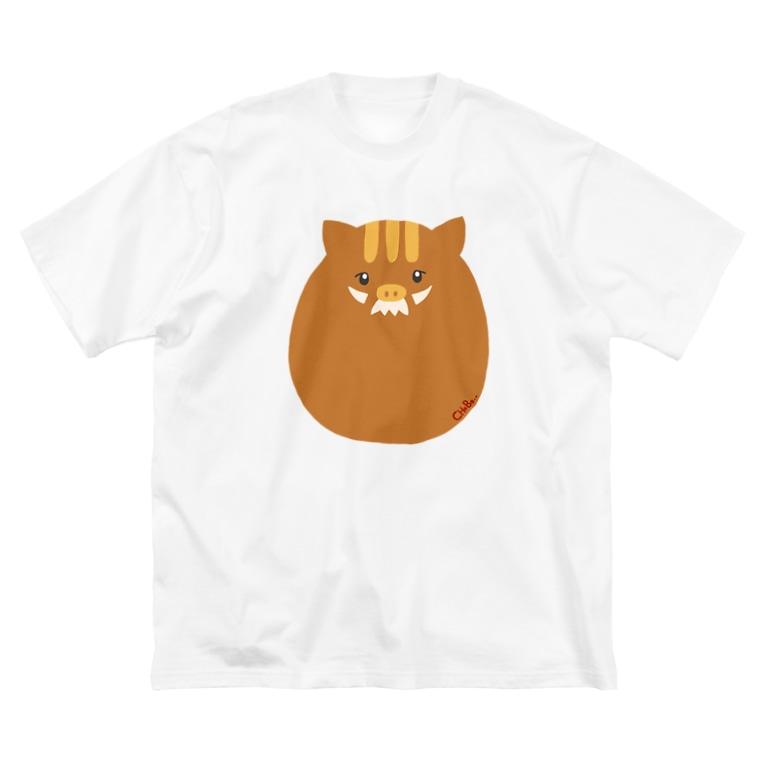 CHoBo..Houseの発明家イノCC Big silhouette T-shirts