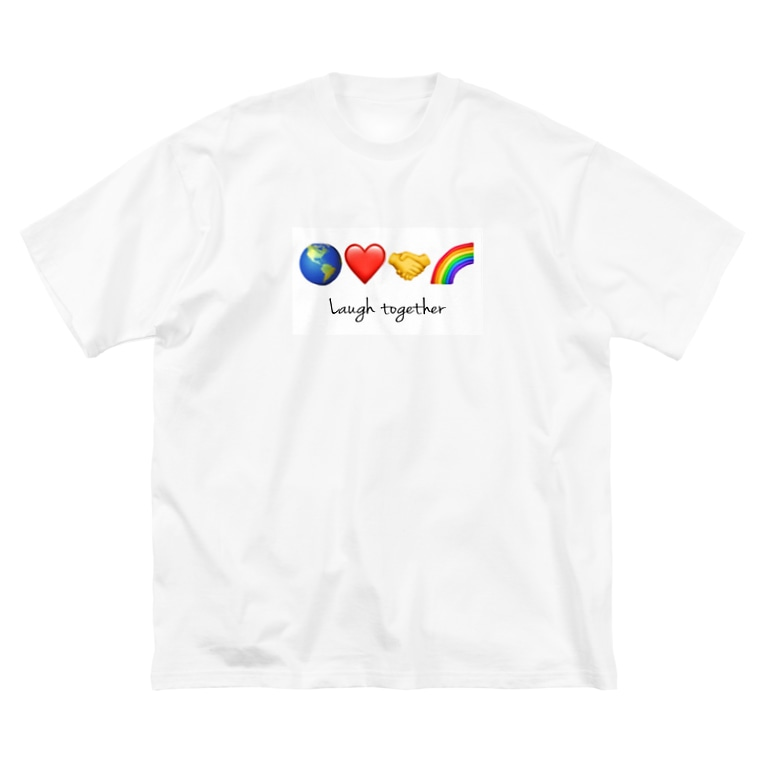 HOPEのLaugh together 2 Big silhouette T-shirts