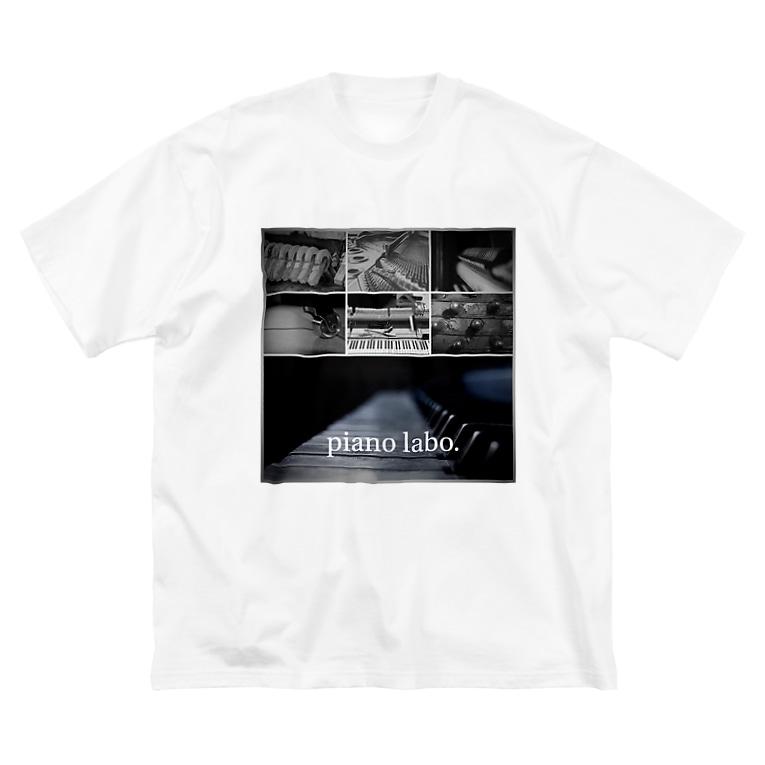 pianolaboのピアノラボTシャツ Big silhouette T-shirts