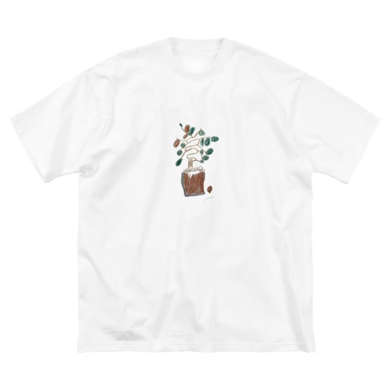 kaisei-gahakuの大きな木 Big silhouette T-shirts