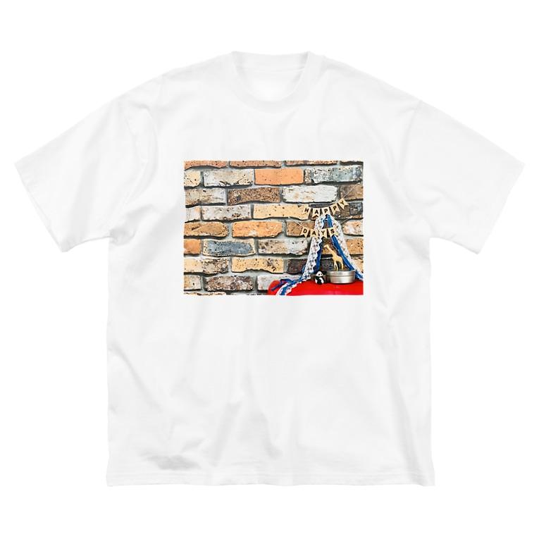 en_madeのHAPPY DAYS !!!!!! Big silhouette T-shirts