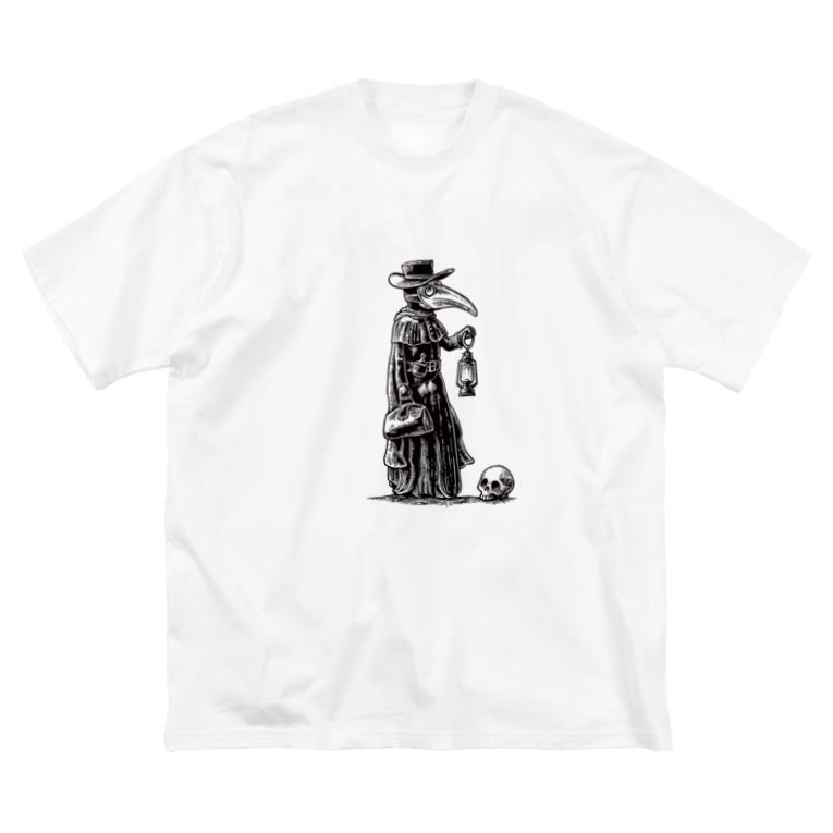 mushiのイケてるお医者さま Big silhouette T-shirts
