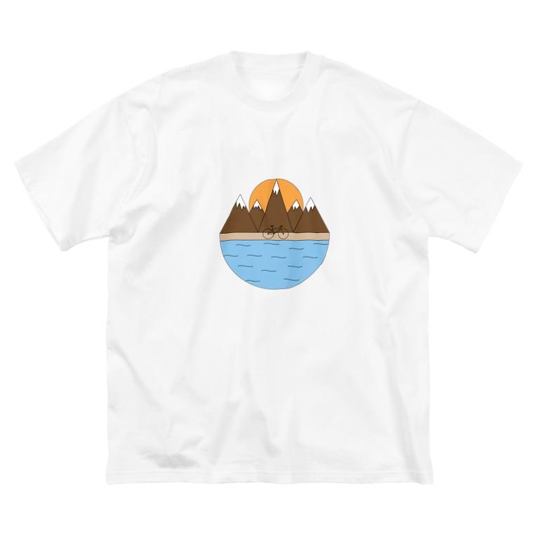 YAMの山登り Big silhouette T-shirts