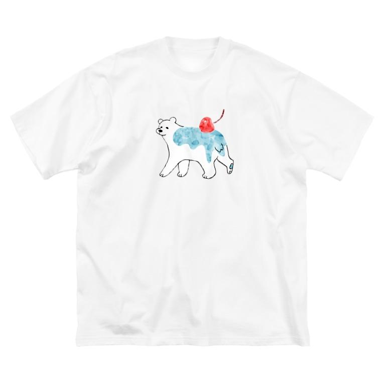 あお ゆるイラスト🖌️のしろくま Big silhouette T-shirts