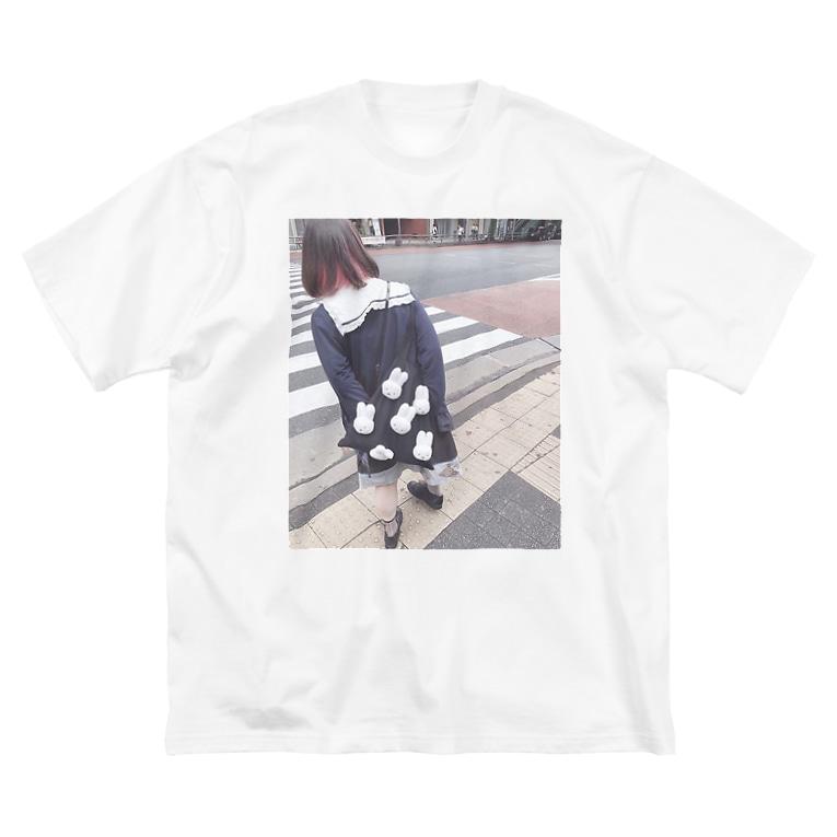 ぐんそーの信号待ち Big silhouette T-shirts