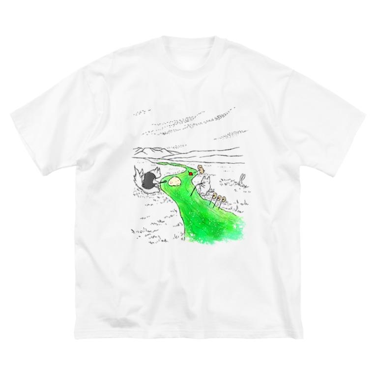 石川ともこの無限クリームソーダ Big silhouette T-shirts