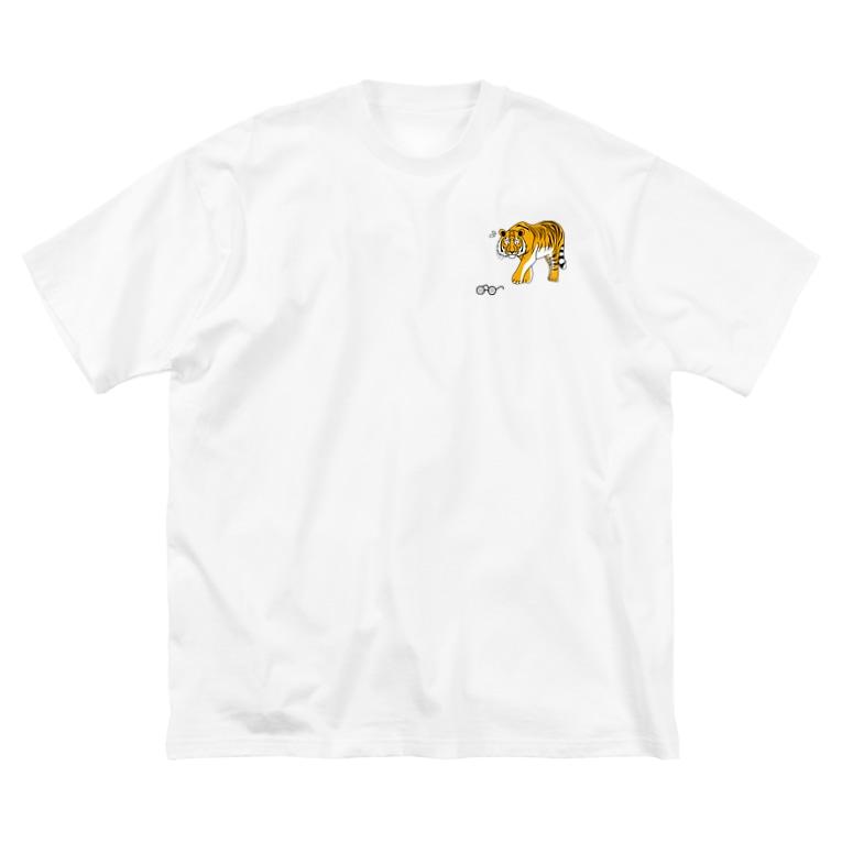 ずまの眼鏡虎 Big silhouette T-shirts