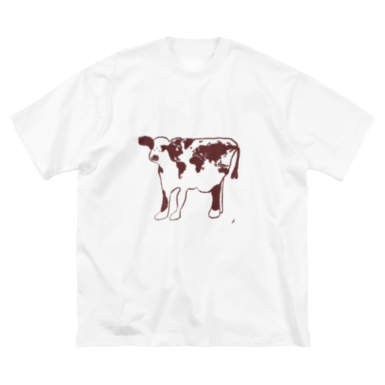 asacacoe_officialのit's a joyful world Big silhouette T-shirts