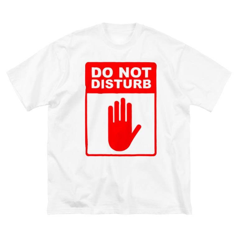 おもしろTシャツ 部屋着 KUSUTTOの起こさないでください Big silhouette T-shirts