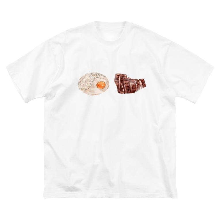 Danke Shoot Coffeeの牛タンと麦飯のとろろがけ Big silhouette T-shirts